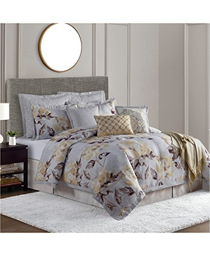 Sunham Home Fashions - Sunham Home Fashions 17777124 Comforter Set, Full, Yellow