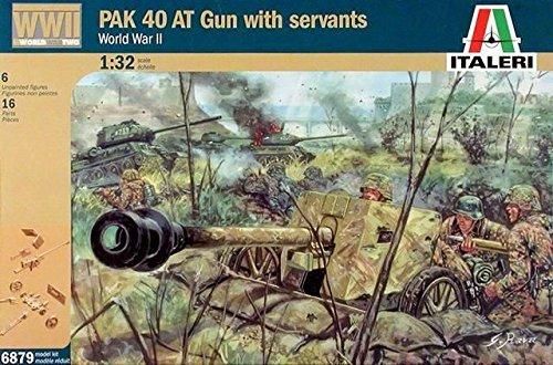 Pak 40 Anti-Tank Gun w/German Soldiers (6) 1/32 Italeri