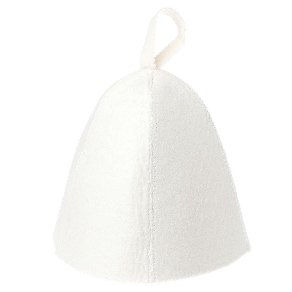 Guoyy Chapeau anti-chaleur blanc de chapeau de sauna de laine pour le style russe de protecteur de maison de salle de bains