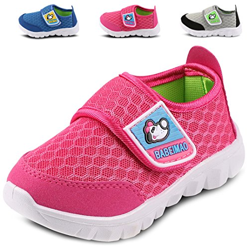 - Femizee Toddler Boys Girls Lightweight Mesh Sneakers Kids Athletic Running Shoes,Hot Pink 1728 CN19