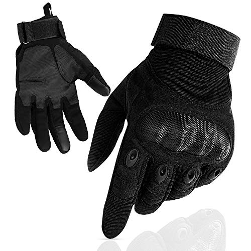 Nasharia Gants Tactiques Renforcés Ecran Tactile Respirable pour Auto Moto, Vélo, Motocross, Combat, Camping,Randonné… 2