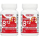 Deva Nutrition Vegan Vitamins Sublingual B-12 Tablets, 2 Count