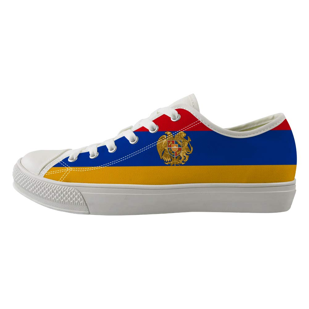 Classic Sneakers Unisex Adults Low-Top Trainers Skate Shoes Armenia Flag National Emblem