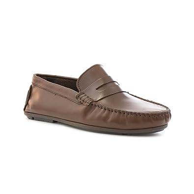 Herren Braun Leder Schuh Casual Mokassin Catesby Yfv7gby6