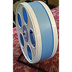 "SUGAR GLIDER, HAMSTER, SMALL ANIMAL WODENT 8"" DIAMETER EXERCISE WHEEL IN ASSORTED COLOR CHOICES (LIGHT BLUE)"