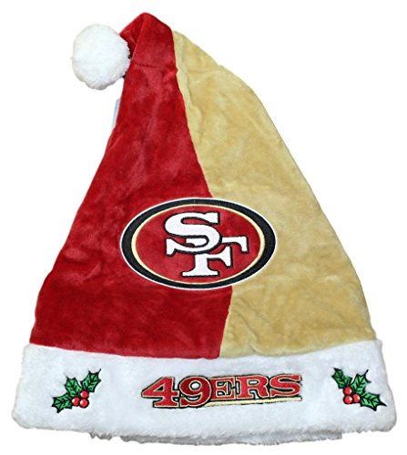 - Forever Collectibles San Francisco 49ers 2017 NFL Basic Logo Plush Christmas Santa Hat