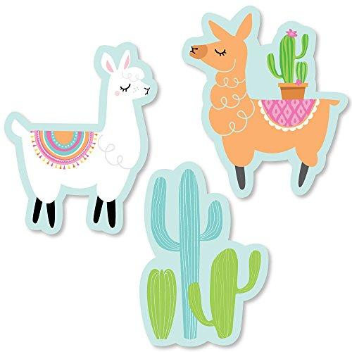 (Big Dot of Happiness Whole Llama Fun - DIY Shaped Llama Fiesta Baby Shower or Birthday Party Cut-Outs - 24 Count)