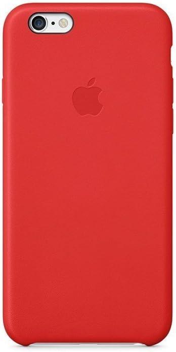 Apple MGR82ZM/A Coque en Cuir pour iPhone 6 Rouge Vif