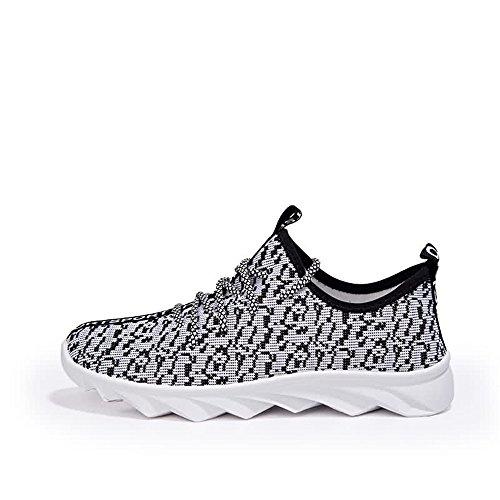 De Shufang Hombre Para shoes Mocasines Papel Gris 7xqxP4p