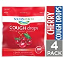 SoundHealth 4-Pack of 80 Count Cherry Cough Drops