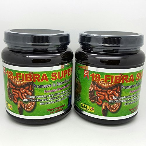 18 Fibra Super Max Promotes Detoxification and Weight Loss 14.1 Oz x 2 Twin Pack