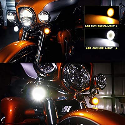 NTHREEAUTO LED Lights Turn Signal Pannel Bullet Style Front Rear 1157 Compatible with Harley: Automotive