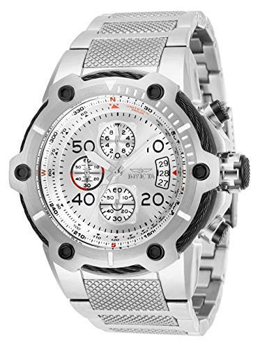 (Invicta Men's Bolt Analog Quartz Watch with Stainless Steel Strap, Silver, 30 (Model:)