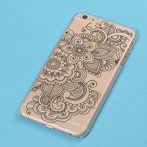 SHOUJIKE Plastic Emboss Design Cases for iPhone 6 Plus (Assorted Color) , Black