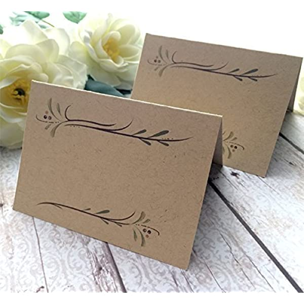 Rustic place card printable Wedding place cards Heart and arrow Kraft place cards Personalized Escort card Wedding name tags