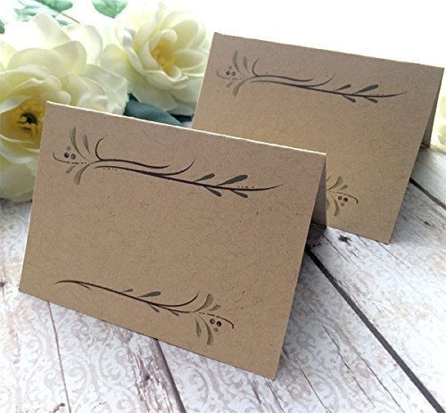 Amazon Com 30 Pack Blank Rustic Wedding Place Cards Blank Kraft