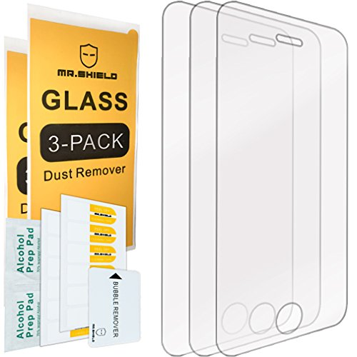 [3-PACK]-Mr Shield For iPhone 4/4S [Tempered Glass] Screen Protector with Lifetime Replacement Warranty