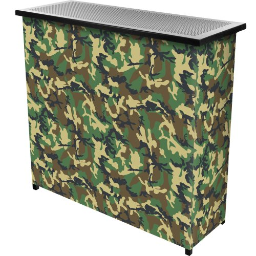 (Hunt Camo Two Shelf Portable Bar with Case)