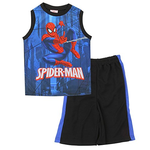 spider-man+tank+tops Products : Spider-man Little Boys 2-Piece Sublimation Short Set, Tank Top and Shorts