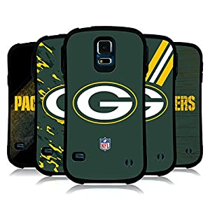 Official NFL Green Bay Packers Logo Hybrid Case for Samsung Galaxy S5 / S5 Neo by Head Case Designs