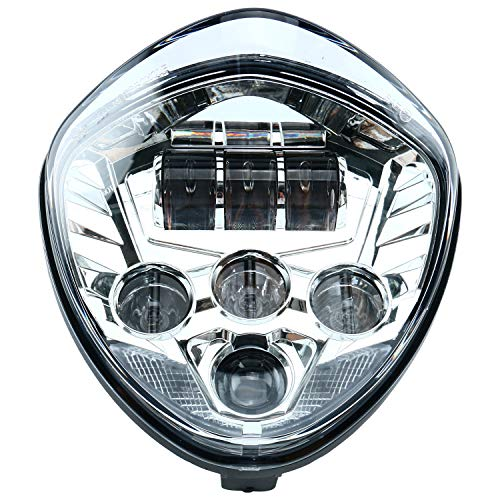 60w Chip Chrome Motorcycle Headlights Assembly IP67 LED Motorcycle Headlamp Kit for Victory Motorcycle Headlight Accessory LED Motorcycle Lights Victory Motorcycles Cross Country Series