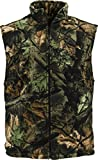 Trailcrest mens soft fleece full zippered hunting camo vest (XL)