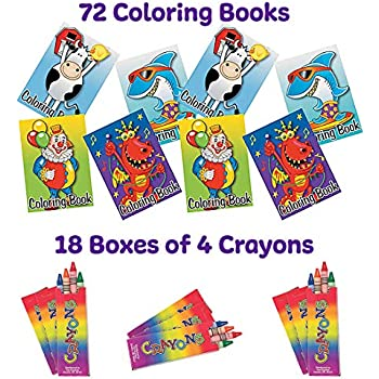 Amazon.com: Kicko Mini Coloring Book - 12 Pieces of