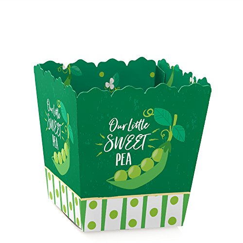 Sweet Pea in a Pod - Party Mini Favor Boxes - Baby Shower or First Birthday Party Treat Candy Boxes - Set of 12 -