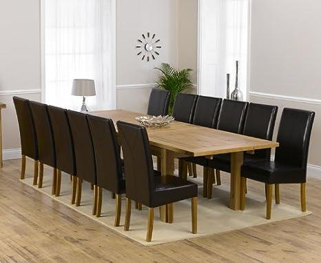 Corona Muebles de Comedor de Roble Extra Grande Mesa de ...