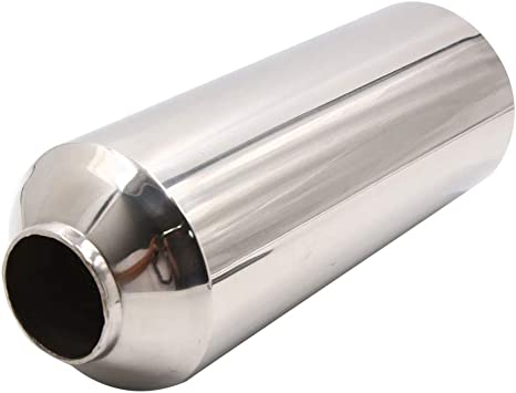 60mm Car Rear Chrome Stainless Steel Tail Exhaust Straight Pipe Tip Universal