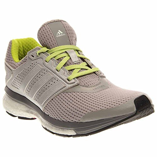 adidas Women`s Supernova Glide 7 Running Shoes Light Gray Heather and Semi Solar