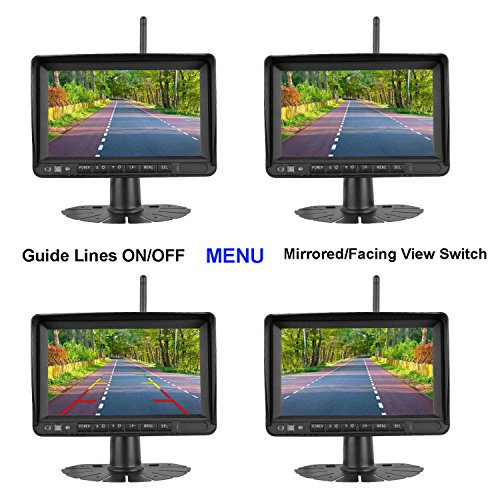 Upgraded Dual Digital Wireless Backup High-Speed System Monitor Screen Recorder RV/Pickup/Truck/Trailers/5th Wheel Driving&Reversing IP69K Waterproof Night Vision