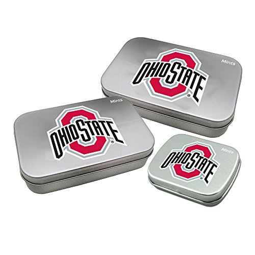 Worthy Promotional NCAA Ohio State Buckeyes Decorative Mint Tin 3-Pack with Sugar-Free Mini Peppermint Candies ()