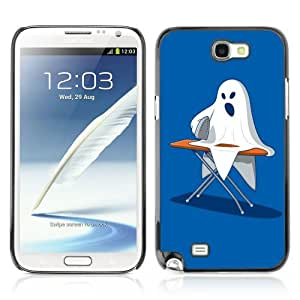 Designer Depo Hard Protection Case for Samsung Galaxy Note 2 N7100 / Ghost Ironing Poster