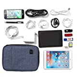 BAGSMART Double-layer Travel Cable Organizer Electronics Accessories Cases for cables, iphone, kindle charge, camera charger, macbook charger, Blue