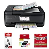 Canon PIXMA TR8520 Wireless Home Office All-In-One Printer with PGI-280XXL,  CLI-281 4 Pack and Sqaure Paper (5x5)