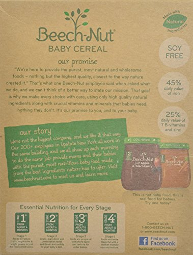 Beech-nut Single Grain Rice Baby Cereal 8oz (Pack of 2)