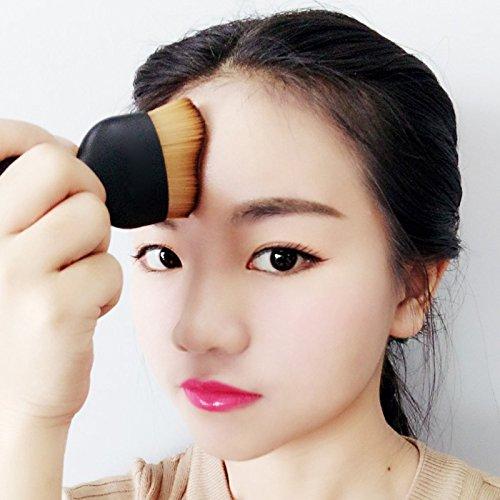 Wavy Foundation Makeup Brush Professional Powder Blush Cosmetic Brushes Black Wine-cup Shaped handle New Fashion Free Shipping