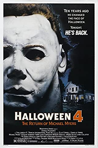 Halloween 4: The Return of Michael Myers (1978) Movie Poster 24x36 (Classic Scary Movie Posters)