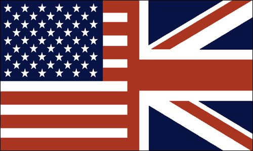 VINTAGE COLORS Half USA//Half UK Flag Sticker american union jack