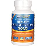Nutrigold Healthy Weight-Loss Gold, 120 Vegetarian Capsules