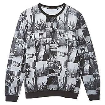 Tom Tailor Multi Color Round Neck Hoodie & Sweatshirt For Men