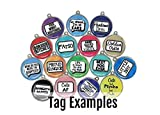 Wag-A-Tude Tags Happy Go Licky - Funny Pet ID Tag - Personalized Reverse - 36 Color Options
