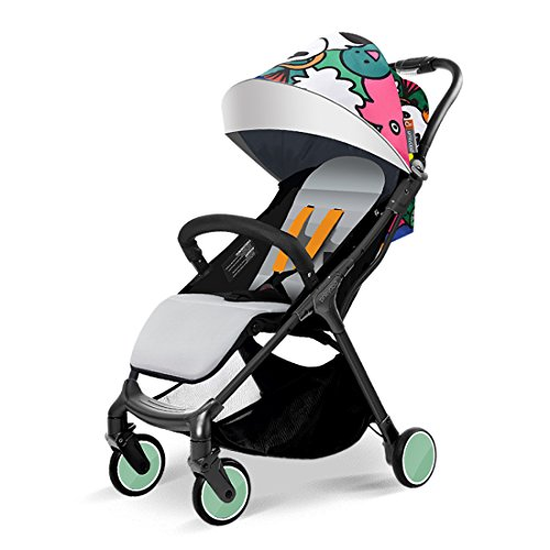 Babysing Baby Stroller Lightweight City Jogging Stroller Can take The Plane S-go (Panda Kingdom)