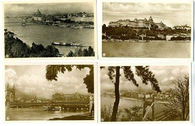 4 Budapest Hungary Real Photo Postcards 1929