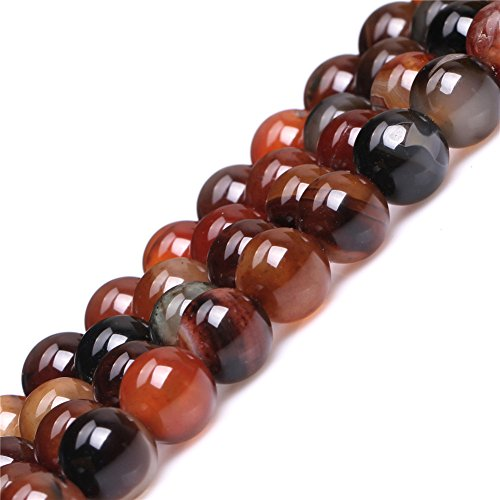 JOE FOREMAN 12mm Dream Lace Agate Semi Precious Gemstone Round Loose Beads for Jewelry Making DIY Handmade Craft Supplies - Agate Dream Bracelet