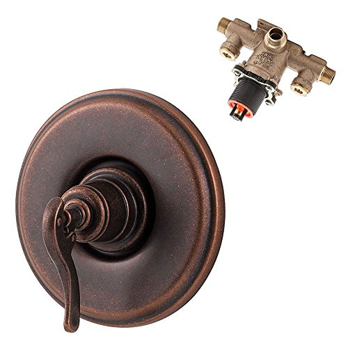(Pfister KR891YP-WSR-RB Ashfield Valve Trim with Rough & Stops, Rustic Bronze)