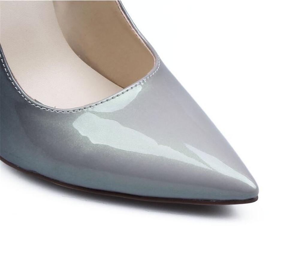 XIE Woherren Lackleder Spitze Zehe Zehe Zehe mit Hohen Absätzen Einzelne Schuhe 15a700