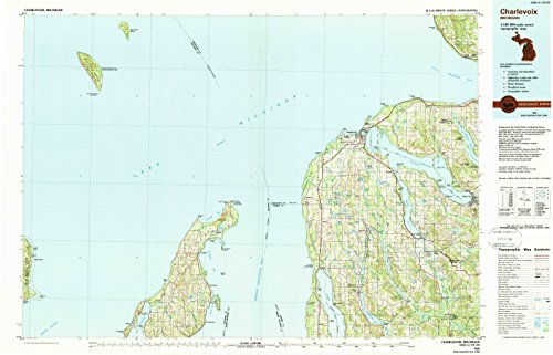 (Charlevoix MI topo map, 1:100000 scale, 30 X 60 Minute, Historical, 1984, updated 1990, 24.1 x 37.5 IN - Paper)