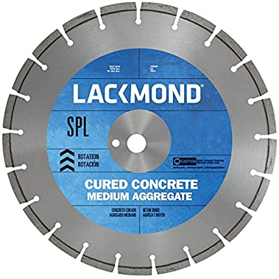 "Lackmond SPL Series - Medium Aggregate Saw Blade - 18"" Wet Cured Concrete Cutting Tool with & 1"" Arbor - CW181251SPL"